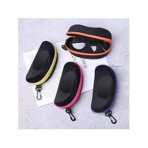 1PC Portable Carabiner EVA Eye Glasses Sunglasses Hard Case Zipper Eyeglasses Protector Box Holder Eyewear Accessories