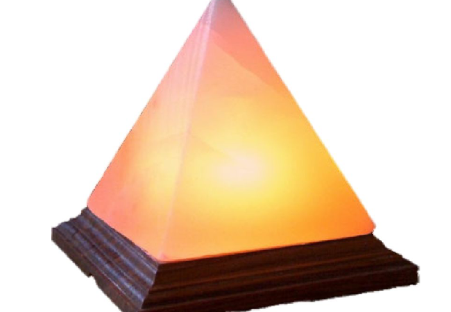 Pyramid Salt Lamp Dark Pink KSL-114