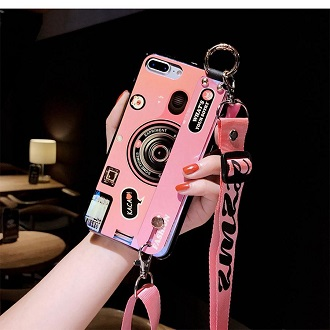 3D Retro Camera lanyard Case For Note10 Pro