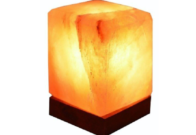 Cuboid Salt Lamp Dark Pink KSL-025